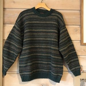 Vintage Alps striped wool blend sweater medium